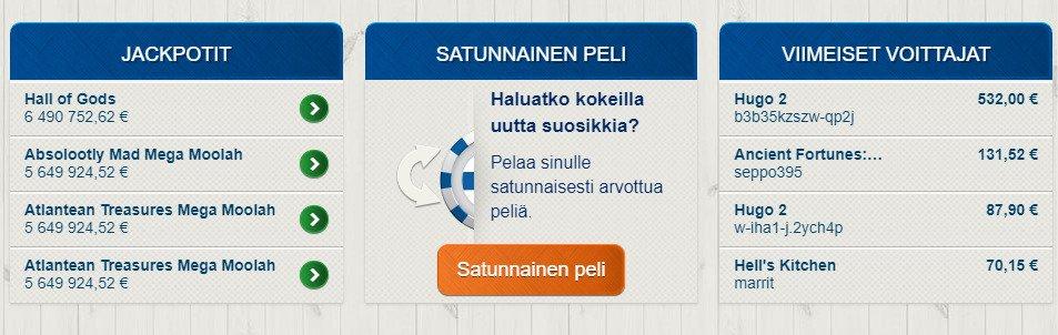 Suomiautomaatti jättipotteja