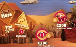 React Casino bonus