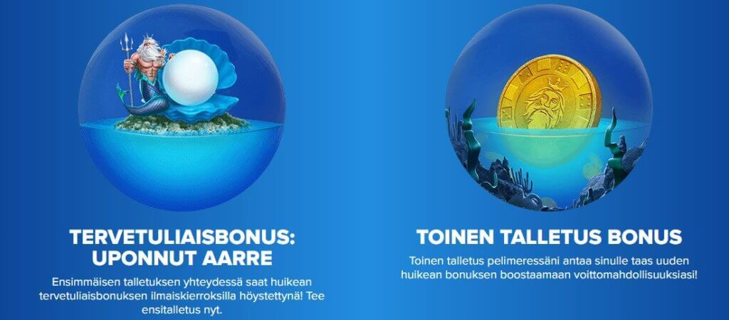 Ahti Games bonus, suomalaiset nettikasinot