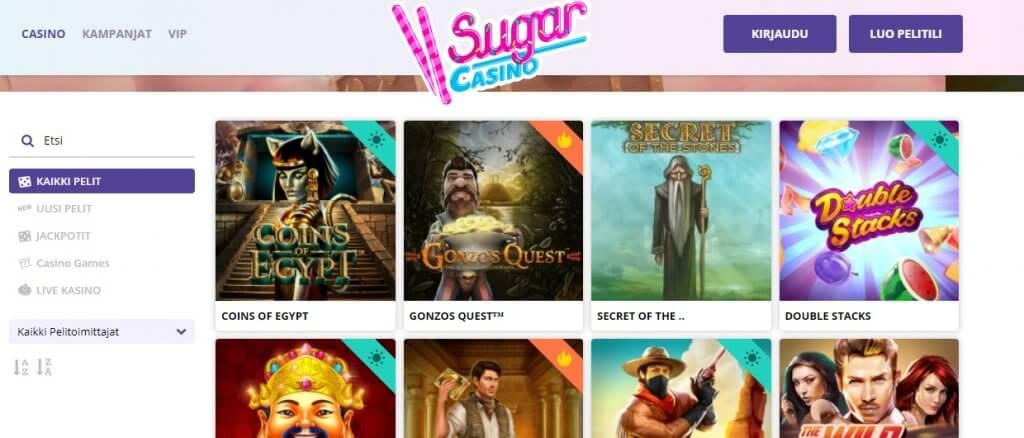 Sugar Casino pelit
