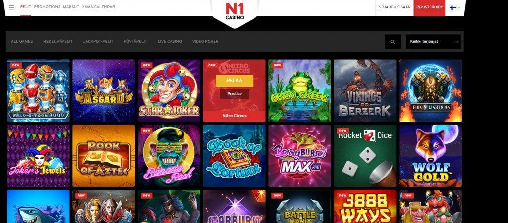 N1 Casino pelit