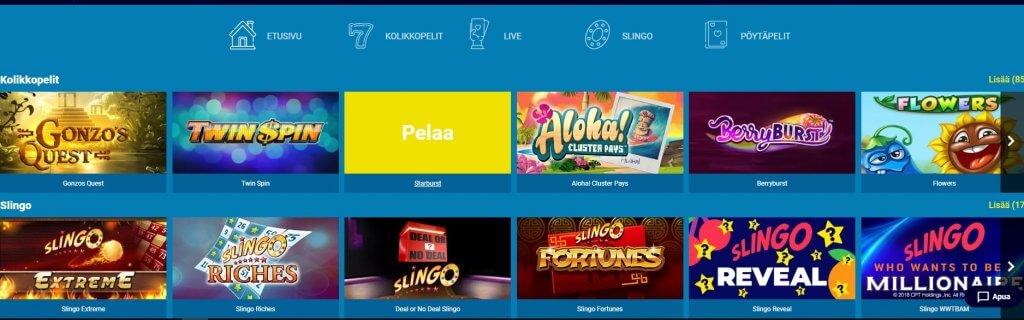 Casonic Casino pelit