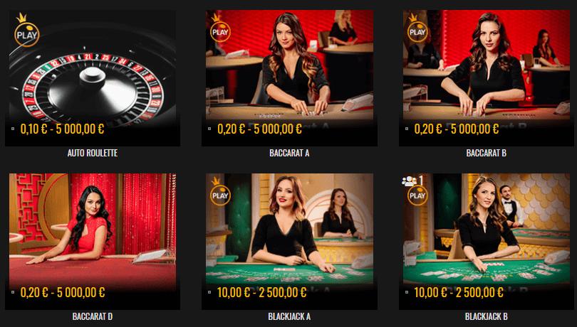 Casino Sieger live-kasino