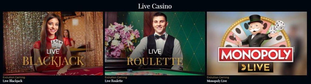 Premier Live Casino bonukset ja ilmaiskierroksia