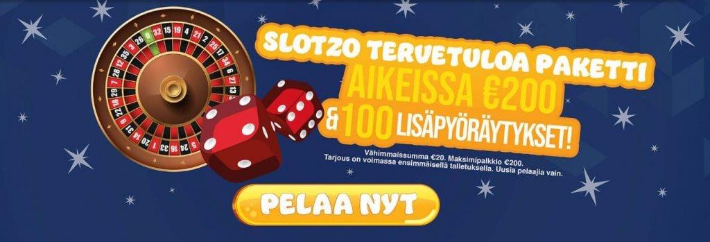 Slotzo Casino tervetuliaisbonus