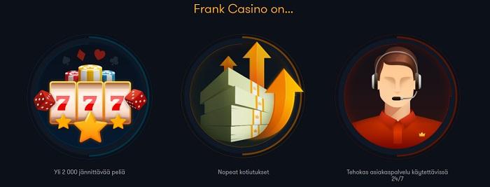 Frank Casino Ilmaiskierrokset
