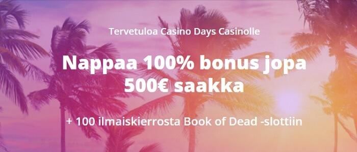 Casino Days Ilmaiskierrokset