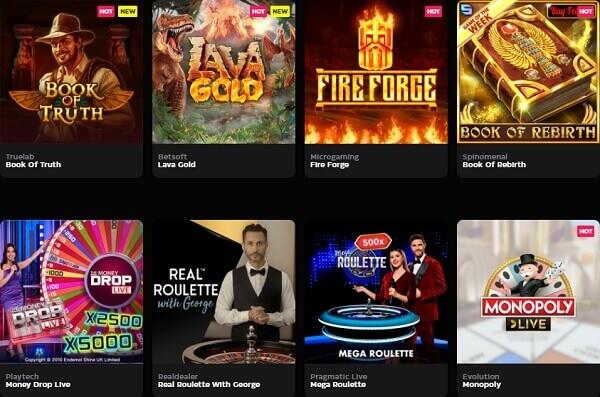 CasinoBuck Pelivalikoima