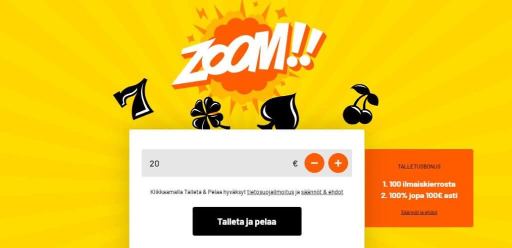 Kazoom ,kasinot ilman rekisteröintiä